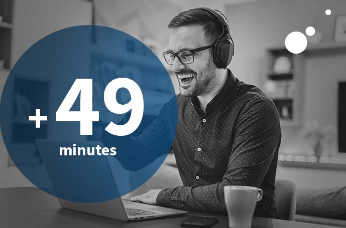 Télétravail : 49 minutes chrono !
